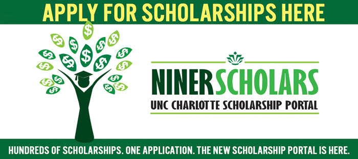 Niner Scholarships. Click here.